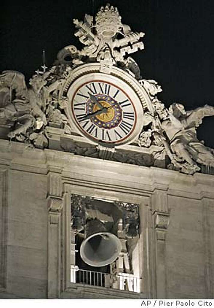 Bells Are Rung Under The Vatican Clock In St. Peteru0027s Square At The Vatican,
