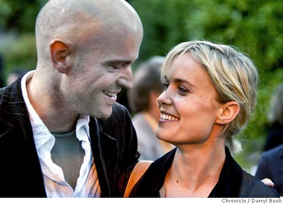 Actress Radha Mitchell talks with director Marc Forster at a Mill Valley Film Festival opening night reception. 10/7/04 in Mill Valley  Darryl Bush / The Chronicle MANDATORY CREDIT FOR PHOTOG AND SF CHRONICLE/ -MAGS OUT Datebook#Datebook#Chronicle#10/9/2004#ALL#5star##0422400587 Photo: Darryl Bush