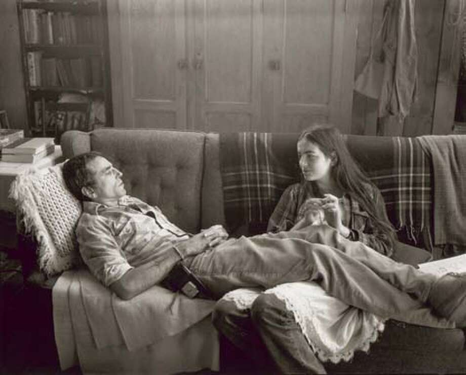 """Still from the movie, """"The Ballad of Jack and Rose,"""" pictured in the still are actors Daniel Day-Lewis and Camilla Bell."""
