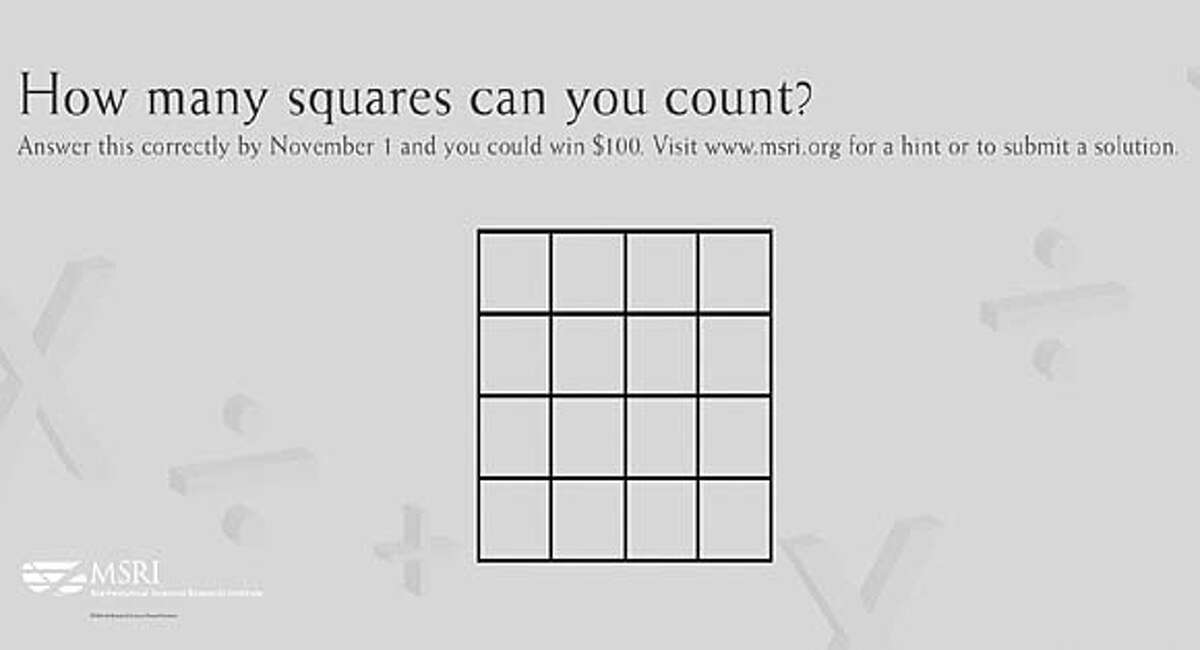 October's question to Muni riders: How many squares can you count?