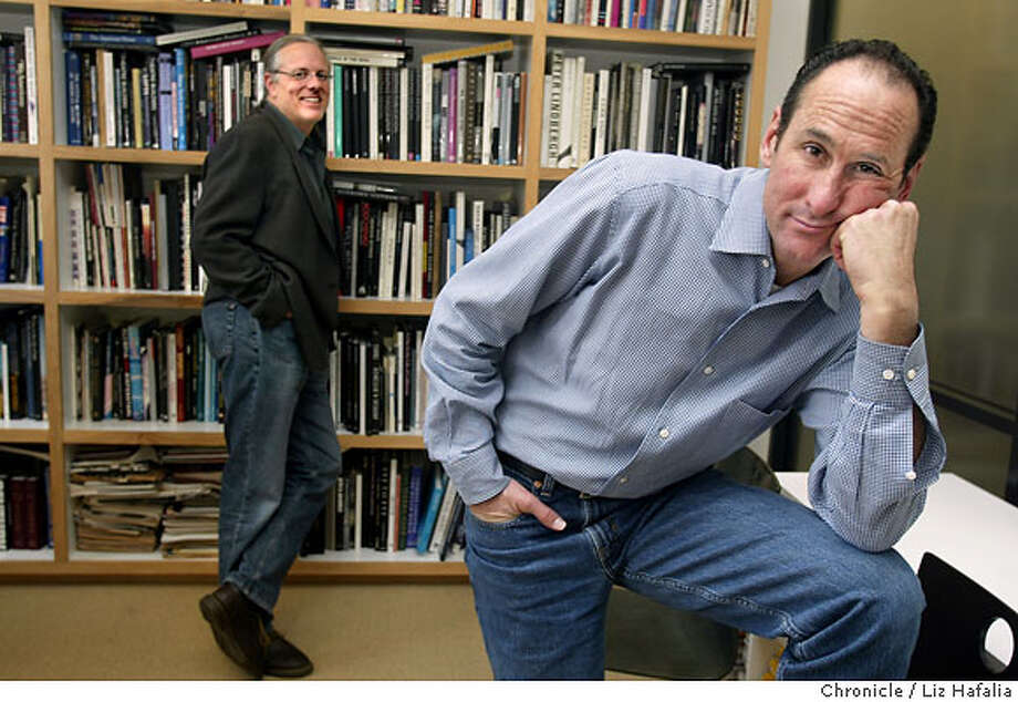Jeff Goodby(left) and Rich Silverstein (right) are being inducted into the One Club Creative Hall of Fame. Shot on 1/16/04 in San Francisco. LIZ HAFALIA / The Chronicle Photo: LIZ HAFALIA