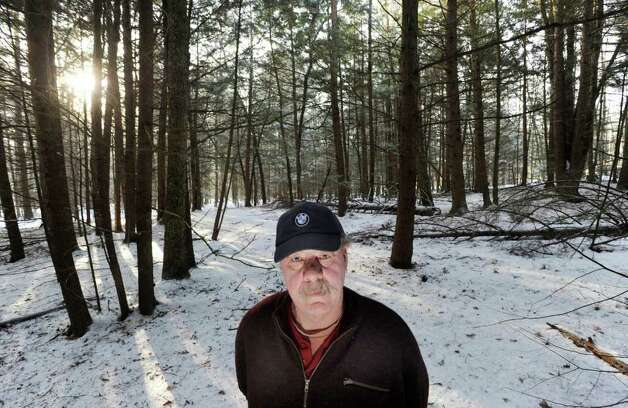 Paul Kondrat of Hinsdale, N.H., on Thursday, Jan. 26, 2012, at the place where his late father, Edward Kondrat, discovered the body of murder victim Mary Harrison, a Greenwich native, in the woods on Oct. 30, 1981. Photo: Bob Luckey / Greenwich Time