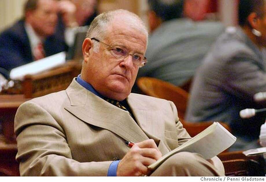Oakland senator Don Perata.  WHO WIL SUCCEED JOHN BURTON as senate pres. pro tem. 8/10/04 in Sacramento.  Penni Gladstone / The Chronicle Photo: Penni Gladstone