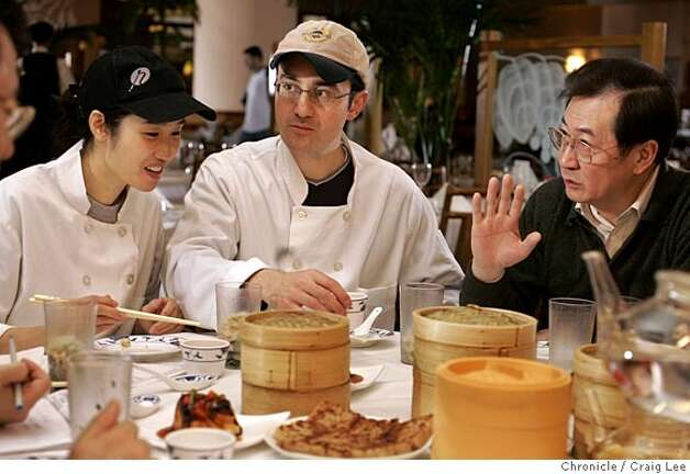 YANKSING30_750_cl.JPG  Photo of the daily taste testing before they open for lunch, left-right: Vera Chan-Waller, Nathan Waller, and Henry Chan. Story on the Chan Family, who runs Yank Sing in Rincon Center, San Francisco's premiere dim sum destination. It was founded in 1958 by Alice Chan. Her son, Henry and his wife Judy, have run it since around 1980. Now their daughter, Vera and her husband, Nathan, are learning the ropes, stepping up to keep the family business thriving. Event on 3/18/05 in San Francisco. Craig Lee / The Chronicle MANDATORY CREDIT FOR PHOTOG AND SF CHRONICLE/ -MAGS OUT Photo: Craig Lee