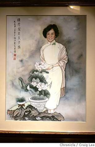 YANKSING30_831_cl.JPG  Photo of a painting portrait of Alice Chan, hanging in the front of the restaurant. Story on the Chan Family, who runs Yank Sing in Rincon Center, San Francisco's premiere dim sum destination. It was founded in 1958 by Alice Chan. Her son, Henry and his wife Judy, have run it since around 1980. Now their daughter, Vera and her husband, Nathan, are learning the ropes, stepping up to keep the family business thriving. Event on 3/18/05 in San Francisco. Craig Lee / The Chronicle MANDATORY CREDIT FOR PHOTOG AND SF CHRONICLE/ -MAGS OUT Photo: Craig Lee
