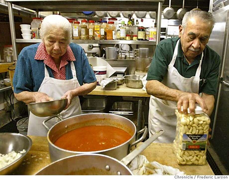 ; For the past 40-some years, Ramon and Guadalupe Ramirez have been the proud owners of Don Ramon's in SoMa, which they began operating soon after moving to San Francisco from Jalisco, Mexico. They have passed down the business to their three daughters but still do all the cooking for the restaurant, getting up at 4:30 in the morning to dice vegetables and make fresh salsa. Theirs is part of a larger story on family businesses and what it takes to survive.  City:� 3/16/04, in San Francisco, CA. Frederic Larson/The Chronicle; Photo: Frederic Larson