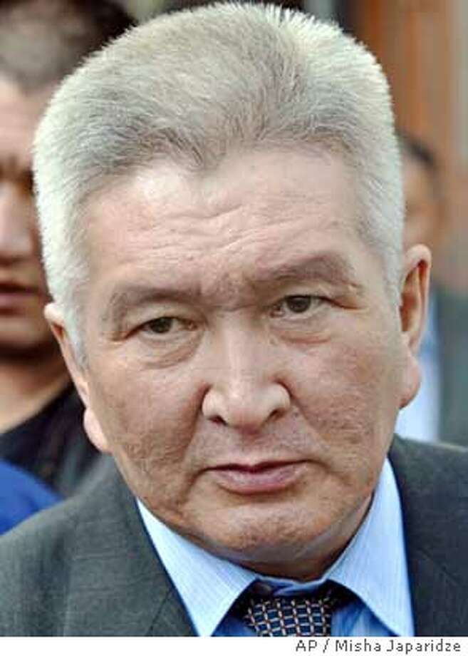 Felix Kulov, a prominent opposition figure who was released from prison during Thursday's uprising and appointed coordinator of law enforcement , is seen in Bishkek, Kyrgyzstan, Saturday, March 26, 2005. Kyrgyzstan's parliament on Saturday set June 26 as the date for an election to replace President Askar Akayev, who was ousted after demonstrators stormed government headquarters, the Interfax news agency reported. (AP Photo/Misha Japaridze) Ran on: 03-28-2005  Felix Kulov was released from prison Thursday and appointed coordinator of law enforcement. Photo: MISHA JAPARIDZE