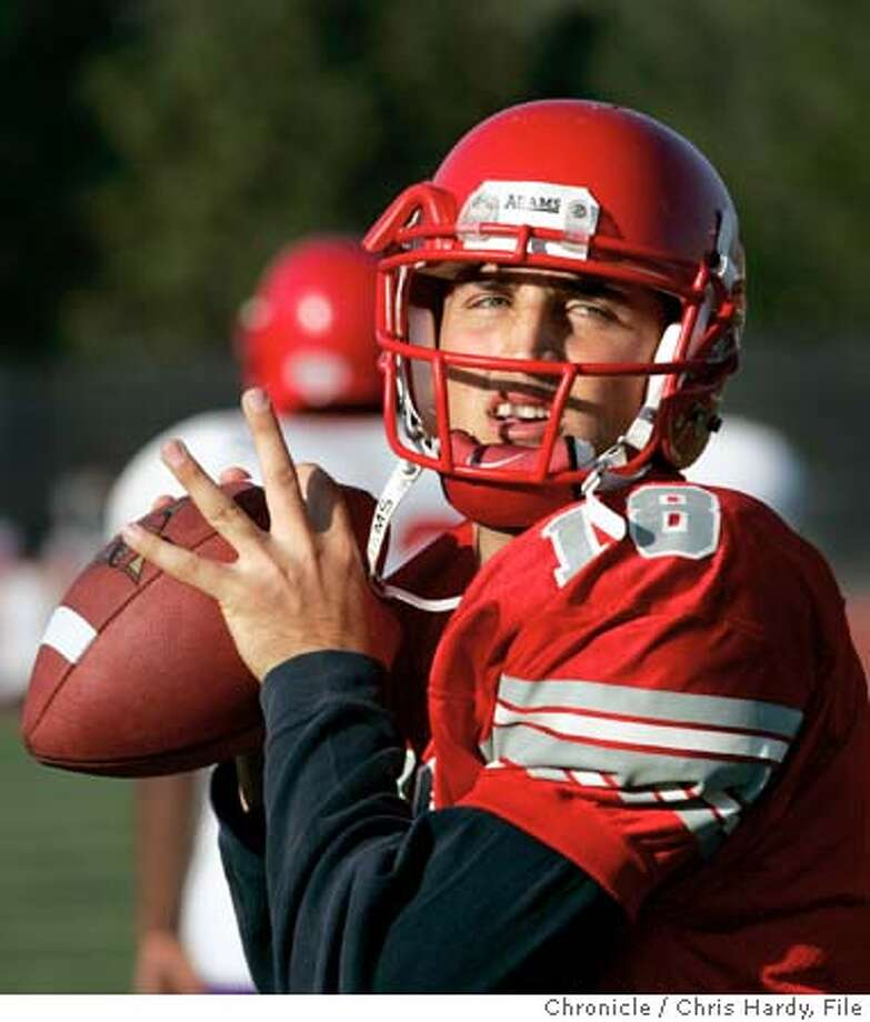 Joe Ayoob, star quarterback for the City College of San Franicisco Rams. He'll play for Cal Bears next season. San Francisco,CA on 11/2/04  San Francisco Chronicle/Chris Hardy Photo: Chris Hardy