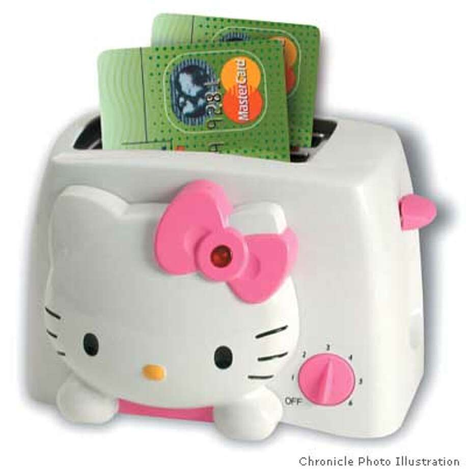 Soon debit cards will join the line of products, from toasters to purses to pajamas, featuring the Hello Kitty icon. Chronicle Photo Illustration
