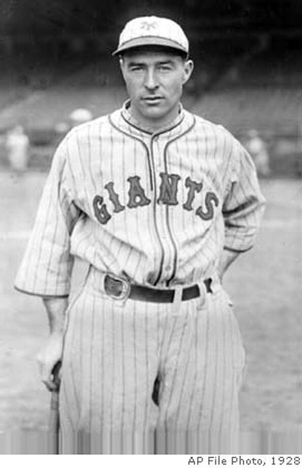 Lefty O'Doul, new outfielder for the New York Giants, poses on May 24, 1928. (AP Photo) Sports#Sports#Chronicle#10/4/2004#ALL#5star##0422152253