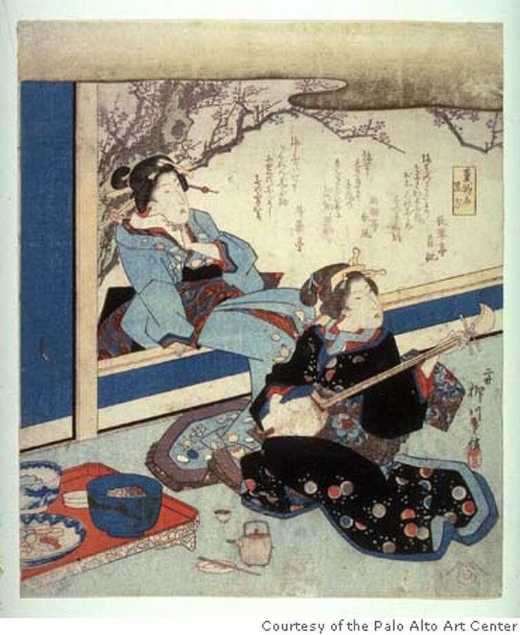 "GALS26 Caption: Shigenobu II, Yanagawa ""Kuroho"" (1832-1836) color woodcut by Shigenobu II, Yanagawa Collection of the Fine Arts Museums of San Francisco Courtesy of the Palo Alto Art Center"