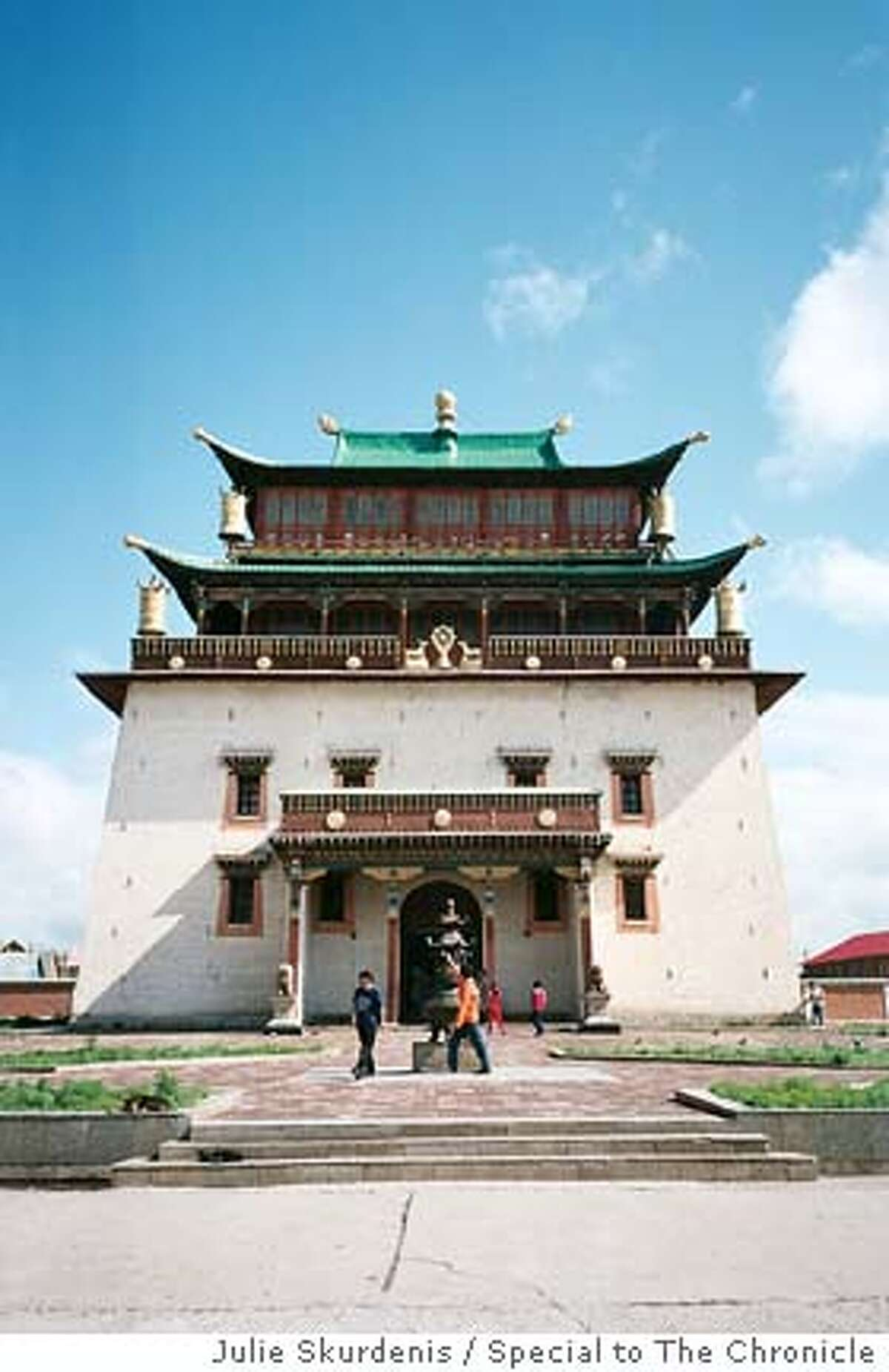 Gandan Monastery, outside of Ulan Bator. Photo by Julie Skurdenis, special to the Chronicle