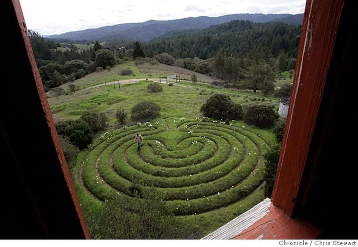 Event on 3/3/05 in Philo. Labyrinths created by Alex Champion of Mendocino County. Chris Stewart / Chronicle