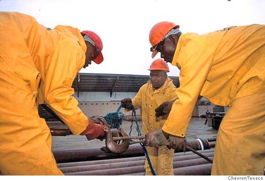 Nigeria supplies 6.8 percent of ChevronTexaco's oil and natural gas. Nigerians make up about 90 percent of the company's workforce there.  HANDOUT