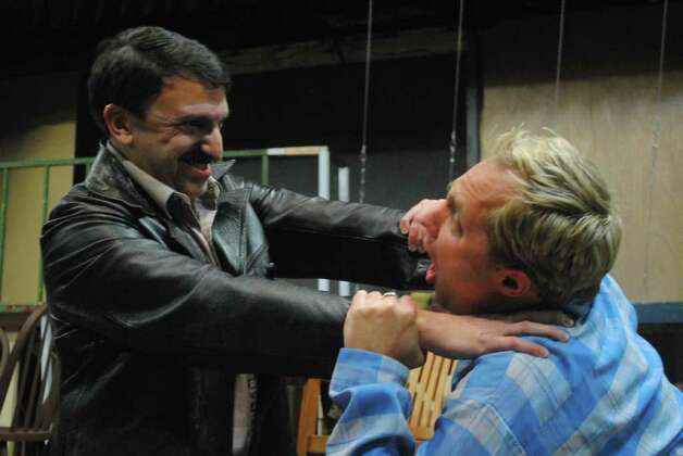 "Scott Liebowitz (left) and Jared Stephens in a scene from Arthur Miller's ""A View from the Bridge.""  Photo: Courtesy, Dylan Brainard"