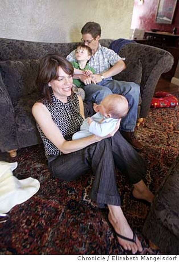 matchmaker005_lm.JPG Event on 9/16/04 in San Francisco.  Natlie Townsend, front, with William, 1 month old, and her husband Brian Townsend, with Clayton, 2, in their home that they have lived in for 2 years as a tenancy-in-common. They recently used a service that matched them with someone to buy a new tenancy-in-common. Liz Mangelsdorf / The Chronicle MANDATORY CREDIT FOR PHOTOG AND SF CHRONICLE/ -MAGS OUT Photo: Liz Mangelsdorf