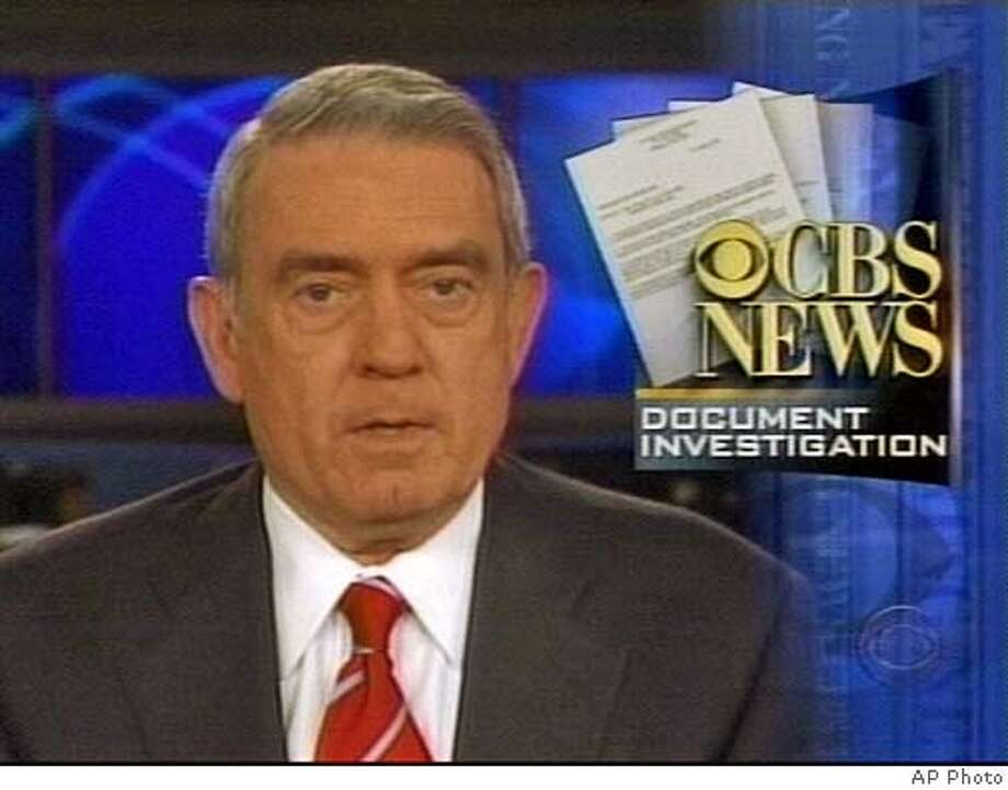 """CBS Evening News Anchor Dan Rather speaks on his Monday, Sept. 20, 2004 news broadcast about the controversy surrounding documents used in a story questioning President Bush's National Guard Service. CBS News apologized Monday for a """"mistake in judgment"""" in its story, claiming it was misled by the source of documents that several experts have dismissed as fakes. (AP Photo)"""