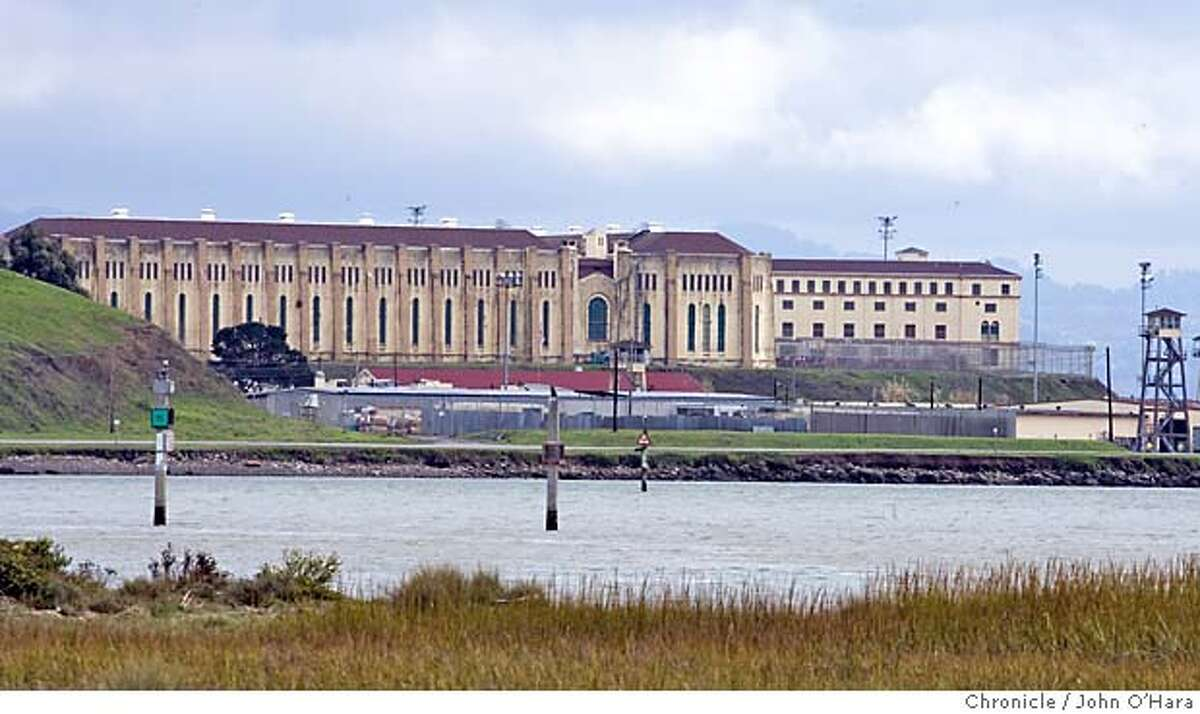 San Quentin Prison. Exterior views showing prison from Larkspur Ferry Landing and Paradise Cay photo/ John O'Hara