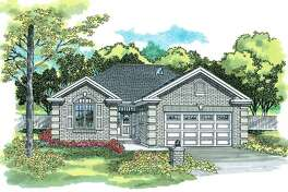 This artist rendering courtesy of Hanley Wood Home Plans shows House of the Week.