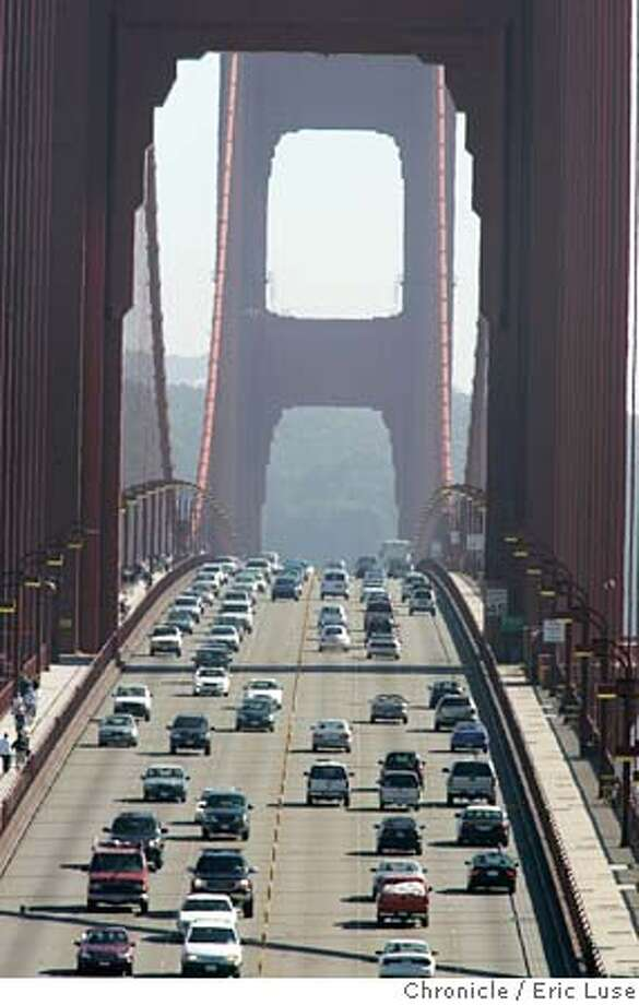 auto_250th_004_el.JPG  Cars crossing the Golden Gate Bridge will face stricter state standards for emissions.  Event on 9/25/04 in San Francisco. Eric Luse / The Chronicle MANDATORY CREDIT FOR PHOTOG AND SF CHRONICLE/ -MAGS OUT Metro#MainNews#Chronicle#9/25/2004#ALL#5star##0422372506 Photo: Eric Luse