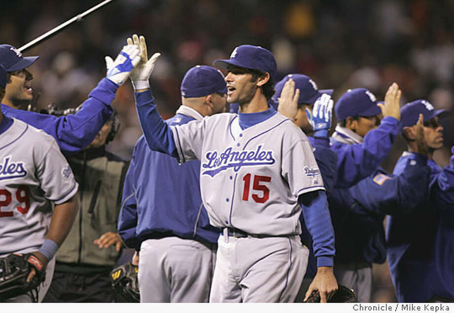 Shawn Green originally was supposed to sit out Friday night's game in observance of Yom Kippur, but his two-run homer was the difference for Los Angeles. Chronicle photo by Mike Kepka