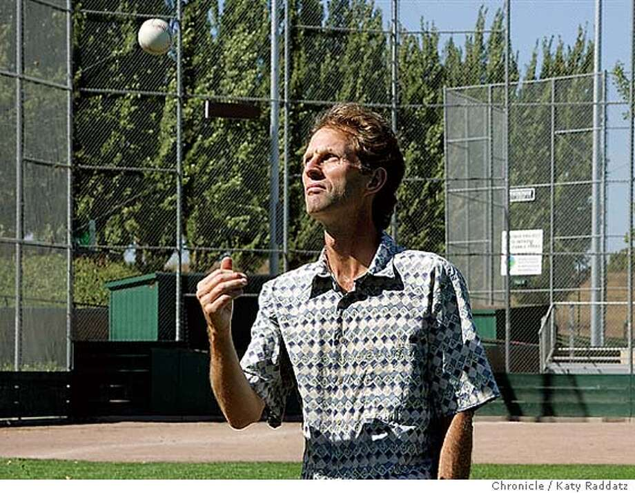 """EBLBASEBALL034_rad.jpg Kevin Nelson is the author of The Golden Game, the Story of California Baseball."""" He's shown at a local ball field in Benicia, where he lives with his family. Katy Raddatz / The Chronicle Photo: Katy Raddatz"""
