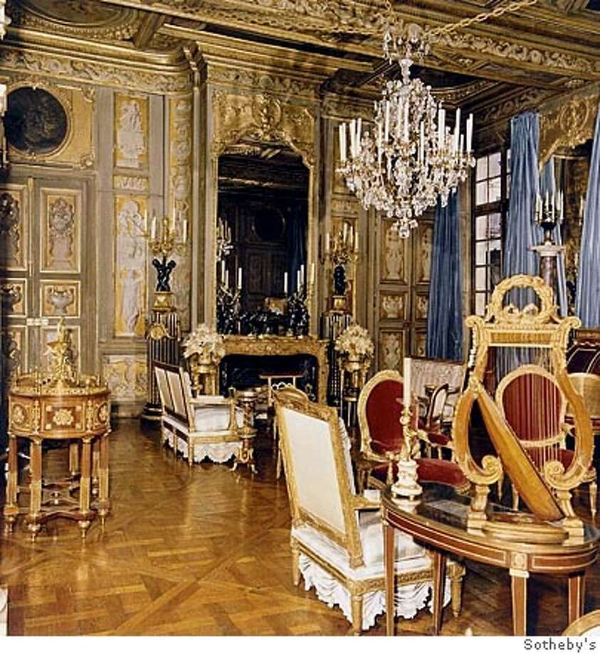 (NYT74) UNDATED -- March 9, 2005 -- BARON-DE-REDE-2 -- Sotheby�s will offer the contents of the Paris palace where Baron de Rede lived. The perfectly tailored, finely mannered godfather of Paris society for nearly a half century, Rede died in June at 82, leaving a legacy of sumptuous living that he maintained well into the age of Ikea. (Sotheby's/The New York Times) Ran on: 03-16-2005  Sotheby's will offer the contents of the Paris palace where the Baron de Red� lived. Ran on: 03-16-2005  Sotheby's will offer the contents of the Paris palace where the Baron de Red� lived, above. A prominent figure in Paris society for nearly a half century, the baron (Alexis von Rosenberg), left, died in June at 82, leaving a legacy of sumptuous living. Ran on: 03-16-2005 Ran on: 03-16-2005 Ran on: 03-16-2005 Photo: Sotheby's