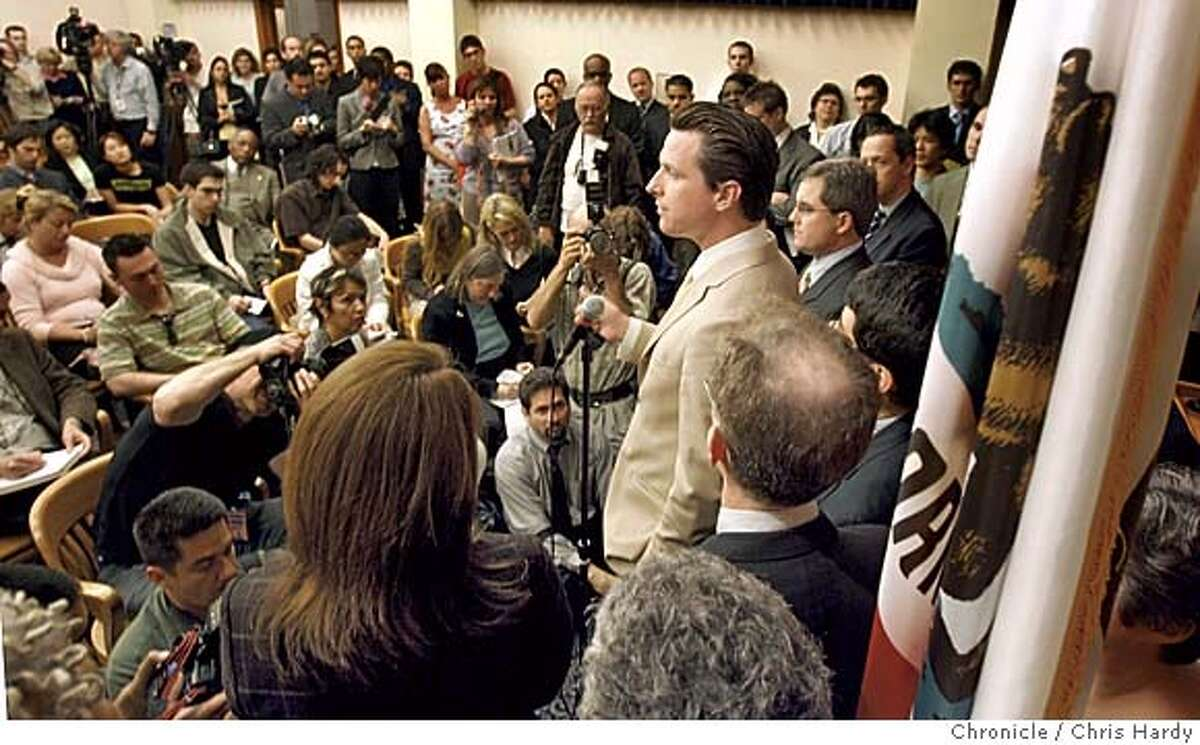 _M0T0253.JPG Mayor Gavin Newsom speaking at press conference on same sex ruling at city hall. Reaction at city hall after appellate court rules in favor of same sex marriage in San Francisco 3/14/05 Chris Hardy / San Francisco Chronicle