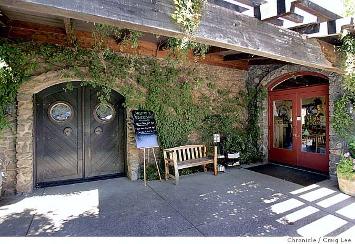 FILE -- Ravenswood Winery tasteroom in Sonoma. Door to the reserve taste room is on the left, regular taste room is on the right.