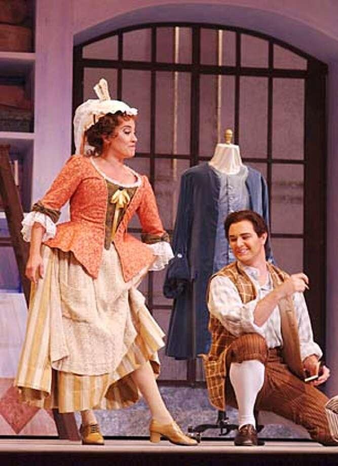 Aim�e Puentes as Susanna, Jason Detwiler as Figaro.