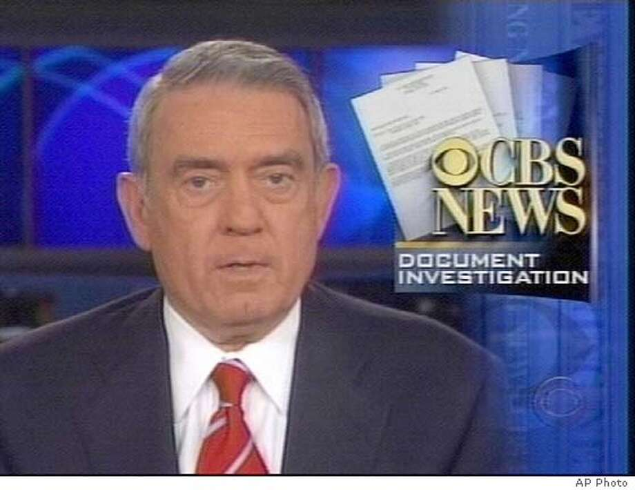 """CBS Evening News Anchor Dan Rather speaks on his Monday, Sept. 20, 2004 news broadcast about the controversy surrounding documents used in a story questioning President Bush's National Guard Service. CBS News apologized Monday for a """"mistake in judgment"""" in its story, claiming it was misled by the source of documents that several experts have dismissed as fakes. (AP Photo) EDITORIAL USE ONLY; ; TV OUT"""