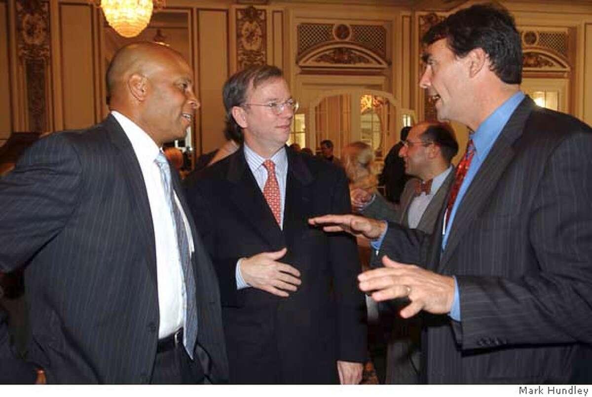 Former 49er Ronnie Lott joins Google CEO Eric Schmidt and Venture Capitalist Tim Draper at a benefit for BizWorld.