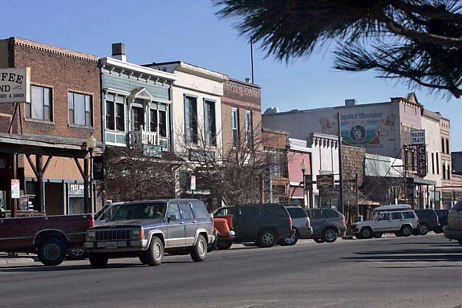 TRUCKEETRAVEL118PG.JPG Old store fronts in downtown Truckee  For Travel section. Truckee CA. The San Francisco Chronicle, Penni Gladstone  Photo taken on 2/25/05, in Truckee, Photo: Penni Gladstone