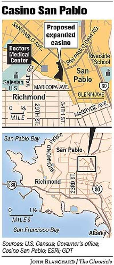 Casino San Pablo. Chronicle graphic by John Blanchard