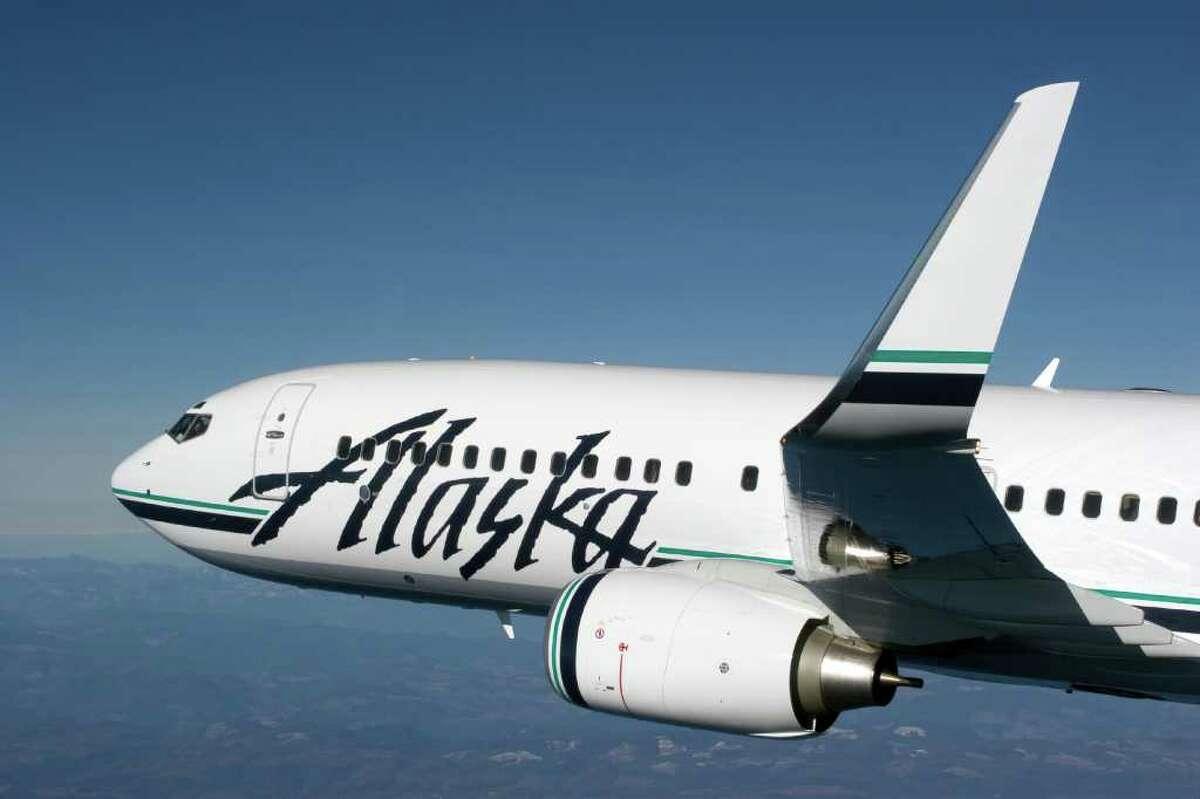 An Alaska Airlines Boeing 737-800.
