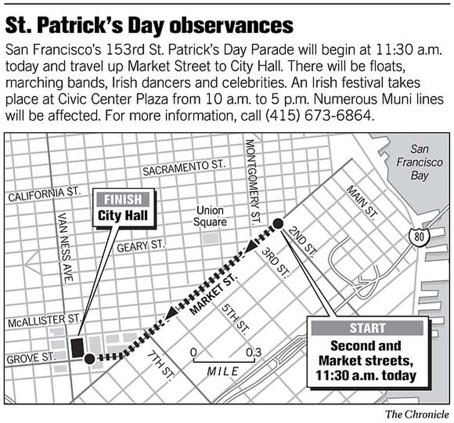 St. Patrick's Day Parade. Chronicle Graphic