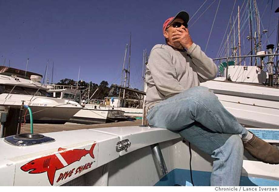 JAWS12_0208_LI.JPG Cliff Zimmerman talks about his friend of 30 plus years Randall Fry, and about his last day prior to being killed by a great white shark on Aug 15th while seated on the stern of his 28th foot boat inside Fort Bragg's harbor. By Lance Iversen/San Francisco Chronicle Photo: Lance Iversen