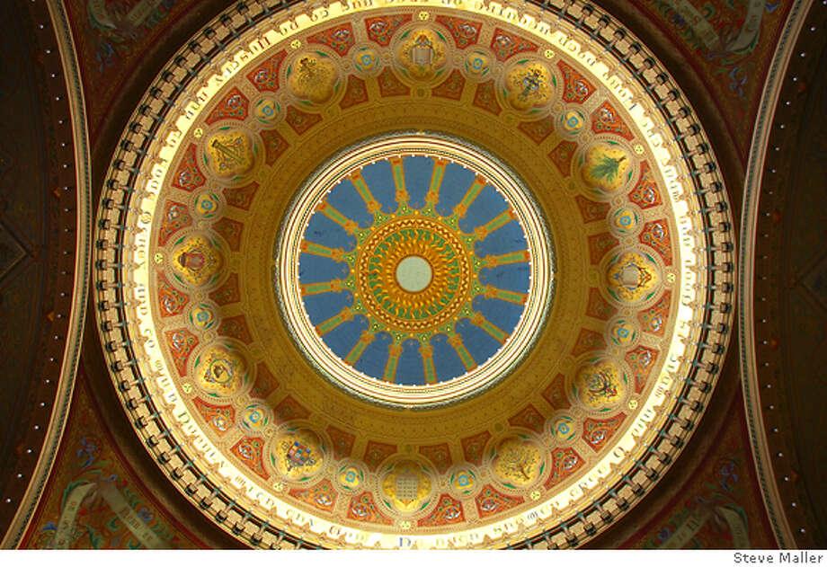 LOSTART12 Attilio Moretti's frescoes in the dome. Photo by Steve Maller