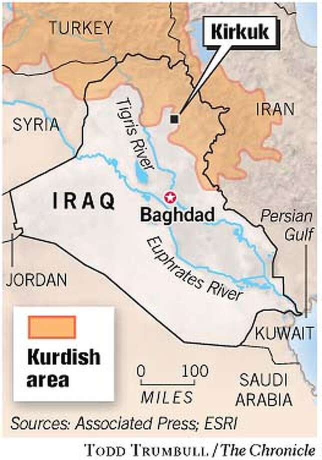 Kirkuk. Chronicle graphic by Todd Trumbull