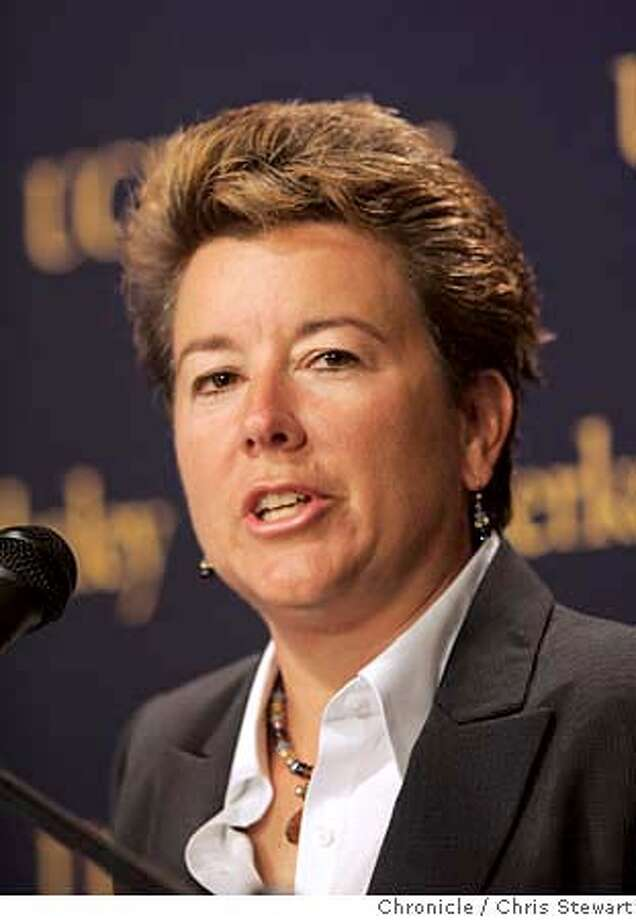 Event on 9/15/04 in Berkeley  Anne �Sandy� Barbour met the press and public today after being named director of athletics at the University of California, Berkeley. A small crowd gathered in the a meeting room at Haas Pavilion where Barbour was introduced by UC Berkeley Chancellor Designate Robert J. Birgeneau, who was himself introduced by outgoing Chancellor Robert M. Berdahl.  Chris Stewart / The Chronicle Photo: Chris Stewart