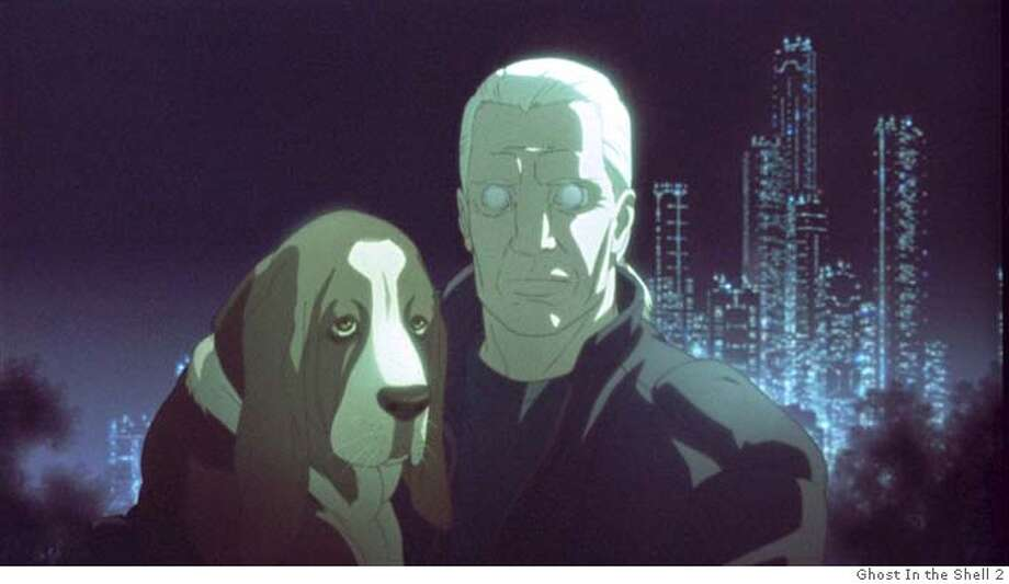GHOST17 Detective Batou values his beloved Bassett Hound over all else in Go Fish Pictures� GHOST IN THE SHELL 2: INNOCENCE. GO FISH PICTURES