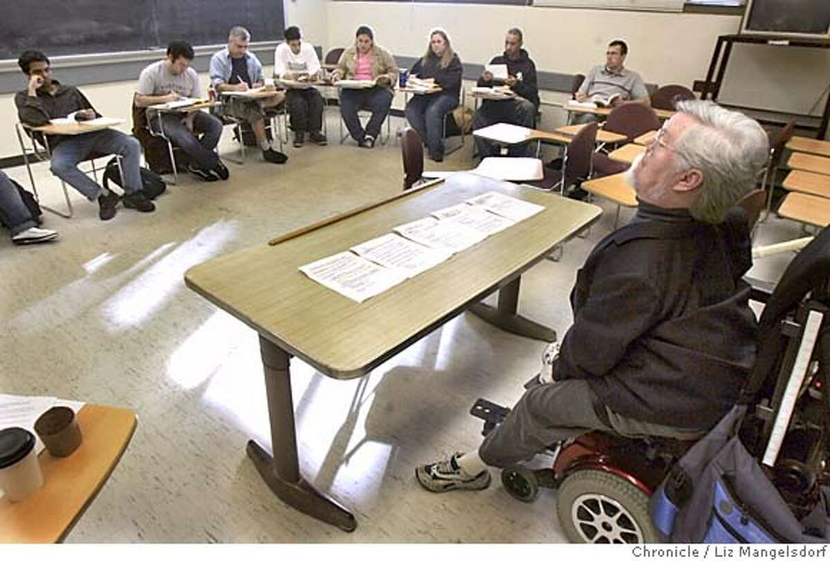 SFSTATE198_lm.JPG Event on 3/2/05 in San Francisco. SF State Professor Paul Longmore teaches a class about the American Revolution. SF State Professor Paul Longmore, who will receive the $50,000 Henry B. Betts Award from the American Association of People with Disabilities. Liz Mangelsdorf / The Chronicle MANDATORY CREDIT FOR PHOTOG AND SF CHRONICLE/ -MAGS OUT