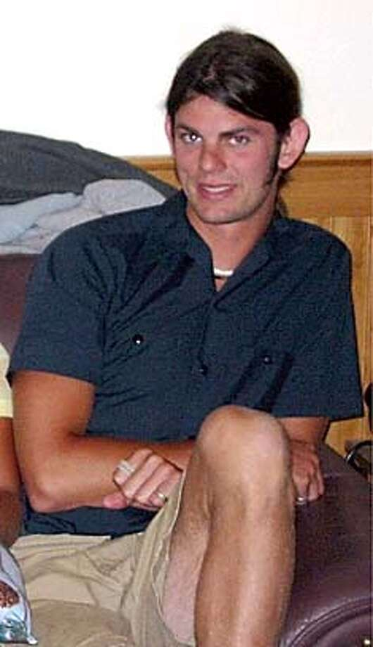 ** FILE ** Jason Allen is shown in this undated file photo. Two camp counselors who were reported missing earlier this week were murdered in their sleep on a Sonoma County beach less than a month before their wedding, authorities said. The bodies of Lindsay Cutshall, 23, and Jason Allen, 26,were discovered in sleeping bags about three miles north of Jenner on Wednesday afternoon, Aug. 18, 2004, when sheriff's deputies were rescuing a stranded hiker, the Sonoma County Sheriff's Department said. (AP Photo/Sonoma County Sheriff) Ran on: 08-21-2004  Two bodies were found at Fish Head Beach in Sonoma County. Ran on: 08-21-2004  Two bodies were found at Fish Head Beach in Sonoma County. Ran on: 08-22-2004  Lindsay Cutshall Ran on: 08-22-2004  Lindsay Cutshall Ran on: 08-23-2004  Jason Allen Ran on: 08-23-2004  Jason Allen Ran on: 08-26-2004  Lindsay Cutshall Ran on: 08-26-2004  Lindsay Cutshall Ran on: 08-29-2004  Jason Allen (left) and Lindsay Cutshall had planned to marry on Sept. 11, after having spent the summer working as camp counselors at the Rock-N-Water camp in Coloma in El Dorado County. Ran on: 08-29-2004  Jason Allen (left) and Lindsay Cutshall had planned to marry on Sept. 11, after having spent the summer working as camp counselors at the Rock-N-Water camp in Coloma in El Dorado County. Ran on: 08-30-2004  Chris Cutshall, pastor of Fresno Bible Church in Ohio, is comforted by elder Curt Phillips at his first talk since the killings. Ran on: 08-30-2004  Chris Cutshall, pastor of Fresno Bible Church in Ohio, is comforted by elder Curt Phillips at his first talk since the killings. SONOMA COUNTY SHERIFF PHOTO NO DATE PROVIDED