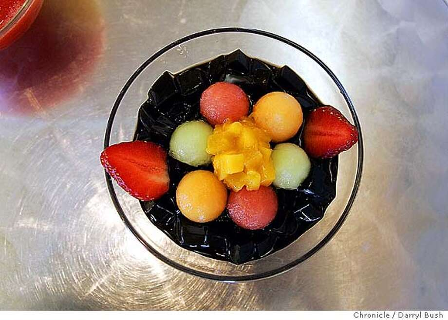 JJ Dessert House on Irving Street between 16th and 17th Ave. Grass Jelly with Fresh Fruit. 9/4/04 in San Francisco  Darryl Bush / The Chronicle Photo: Darryl Bush