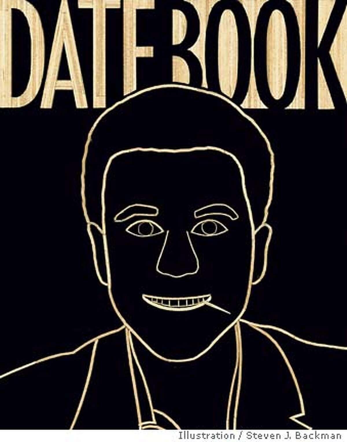 Datebook Cover: Self-portrait in toothpicks by Steven J. Backman. Illustration by Steven J. Backman