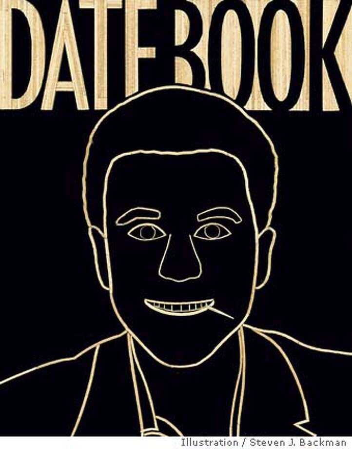 Datebook Cover: Self-portrait in toothpicks by Steven J. Backman. Illustration by Steven J. Backman