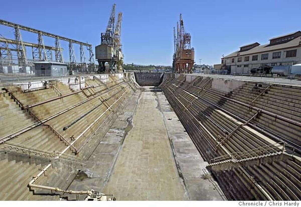 Mare Island Naval Shipyard, the first naval base on the west coast, is having a 150th anniversary in September, and we're doing a feature story about the history of the island and its conversion to civilian use. There are big plans for a mix of housing, commercial and other uses along with preservation of historic sites such as the chapel, the oldest military chapel in the west which has 29 Tiffany stained-glass windows, the oldest drydock and the historic Captain's Row of military mansions. Unofficial base historian and former shipyard worker, Sue Lemmon, at the chapel. Chris Hardy / San Francisco Chronicle