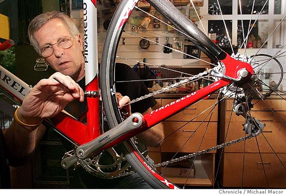 "Tim Parker was dubbed ""The Last Great Mechanic'' for his unparalleled skills in bike building. Chronicle photo by Michael Macor Photo: Michael Macor"