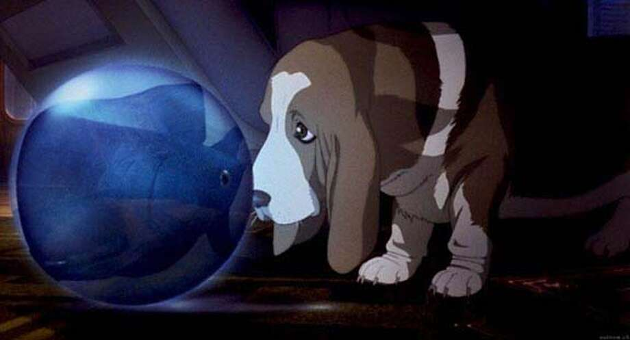 """The sad-eyed and droopy-eared basset hound is probably the only innocent character in the anime sequel """"Ghost in the Shell 2: Innocence."""" Photo courtesy of DreamWorks"""