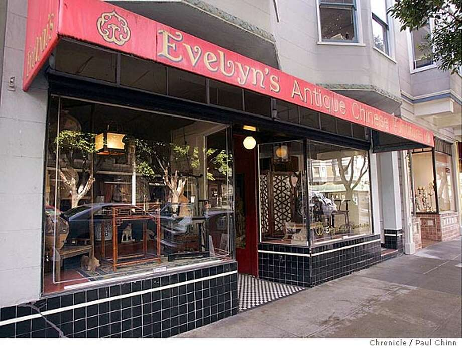 "Evelyn's Antiques at 381 Hayes St. has the largest collection of Asian antiques in the country. Five shops featured in a furniture store guidebook on 2/18/05 in San Francisco, CA. Jennifer Litwin's new book ""Furniture Hot Spots"" gives the inside scoop on furniture shopping in 12 of the country's top markets, including San Francisco.  PAUL CHINN/The Chronicle Photo: PAUL CHINN"